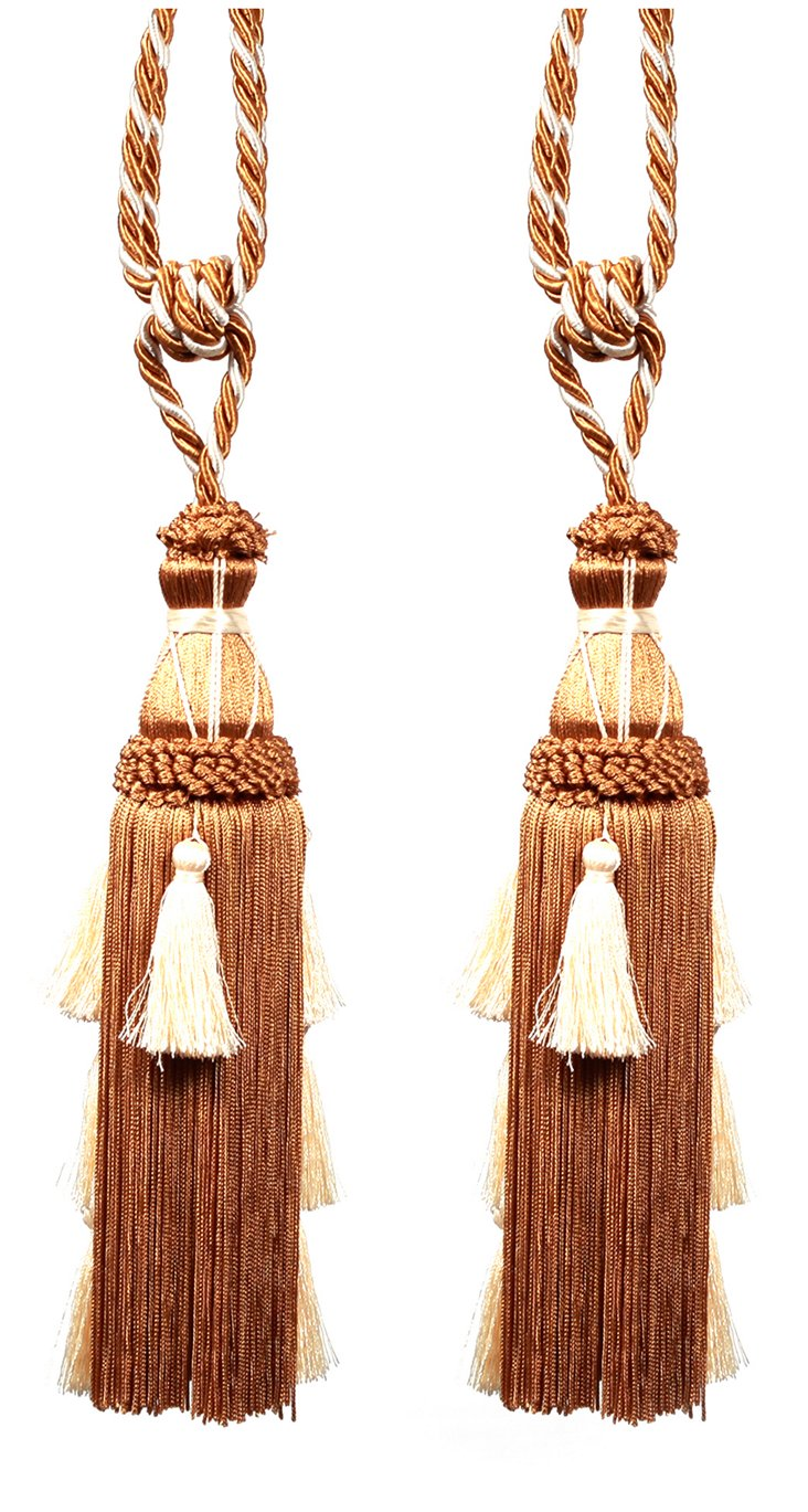 S/2 Ate Tassels, Natural