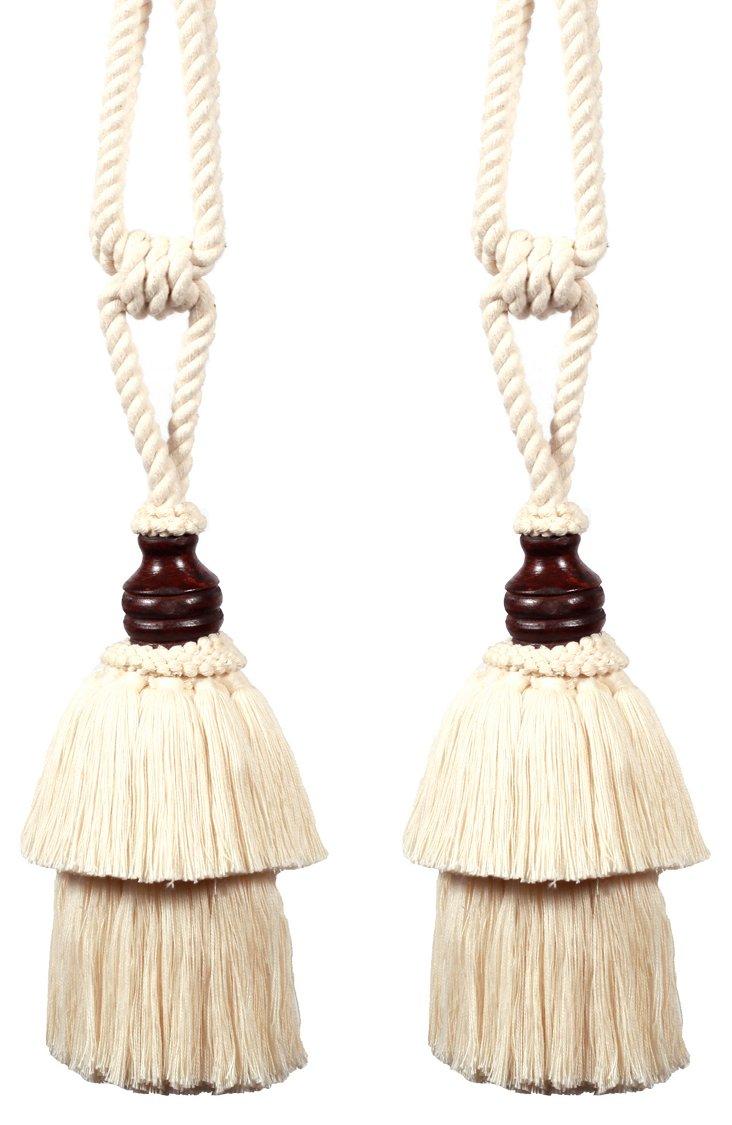 S/2 Hermes Cotton Tassels, Natural