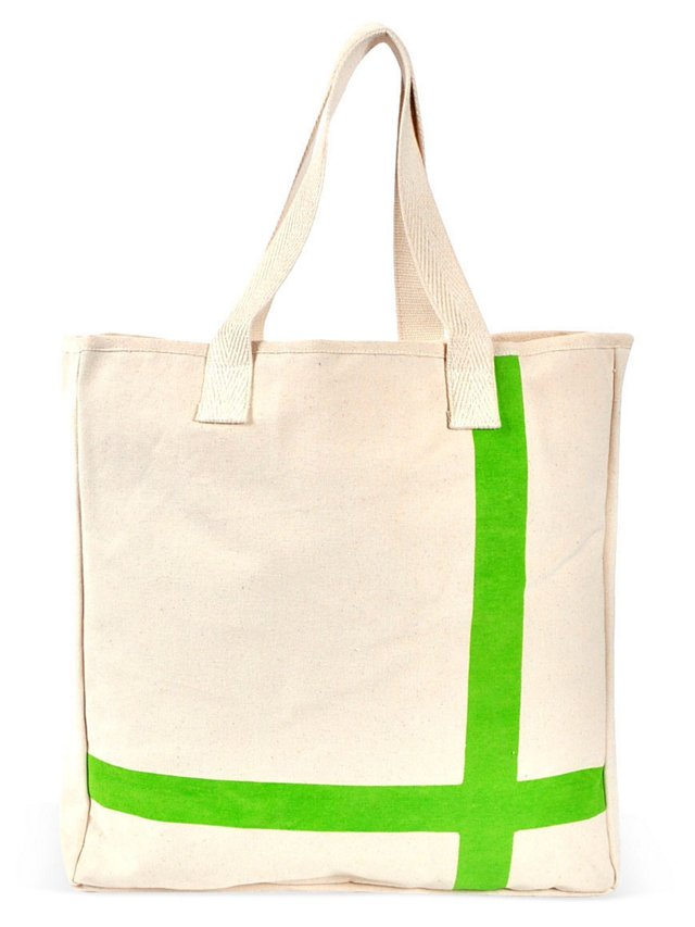 Canvas Tote, Lime