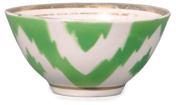 Green Ikat Bowl