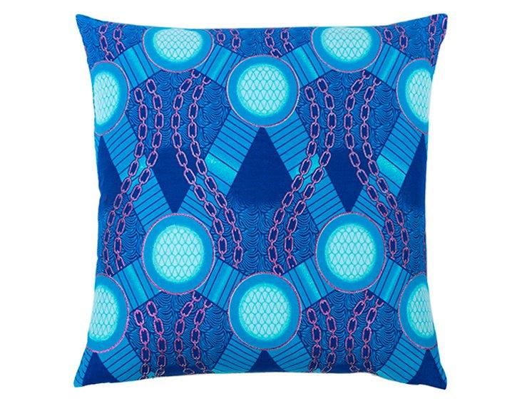 Marina 18x18 Cotton Pillow, Turquoise