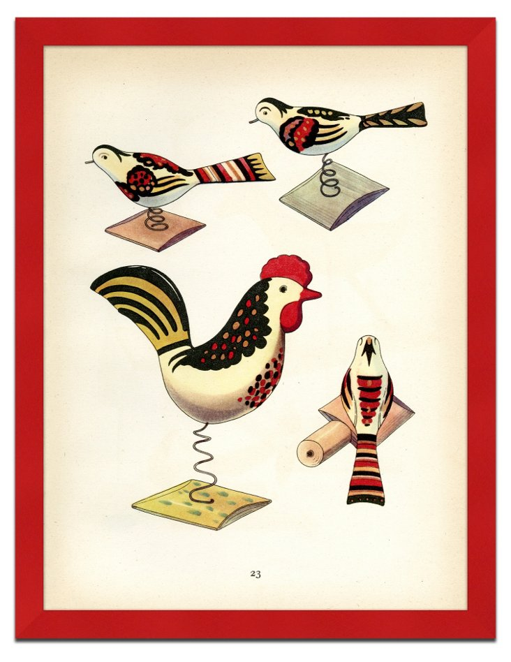 Vintage Swedish Toys Print I