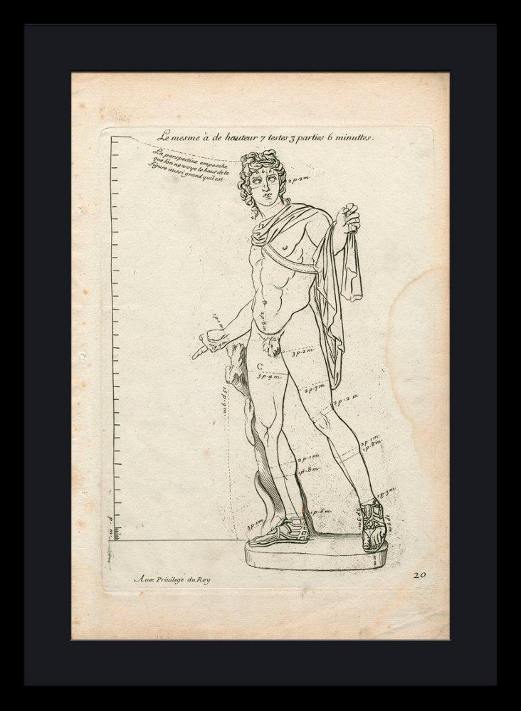 Roman Statue Details Framed Print II