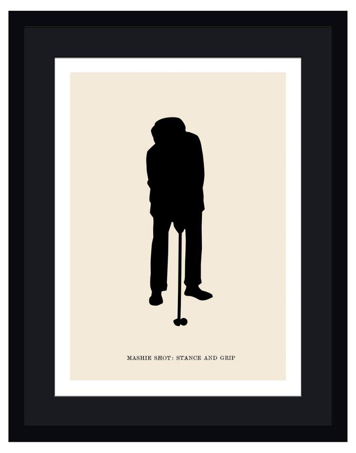 Golfer Framed Print III