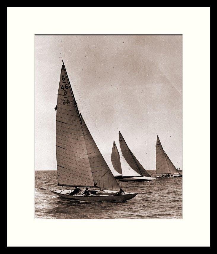 Vintage Sailboats Print II