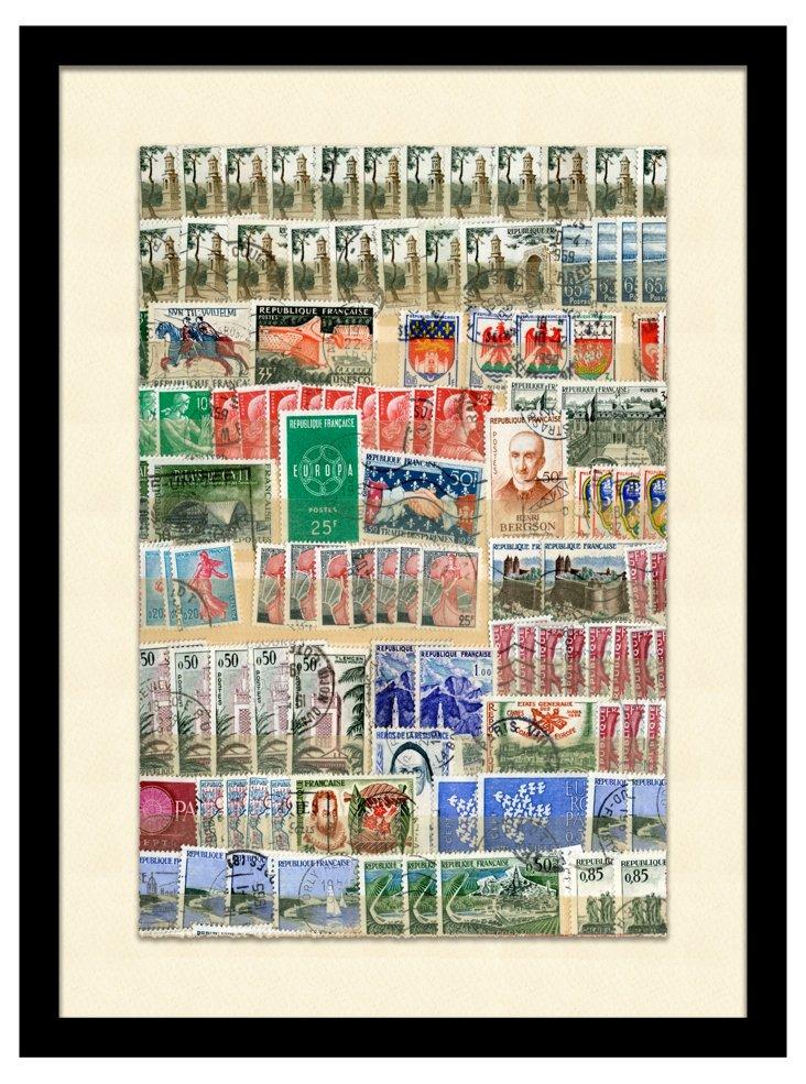 World Stamp Collage II