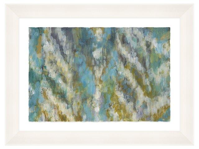 Lillian August, Ikat Blue Painting DNU