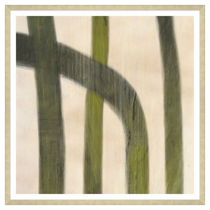 Thom Filicia, Abstract Green & Beige I