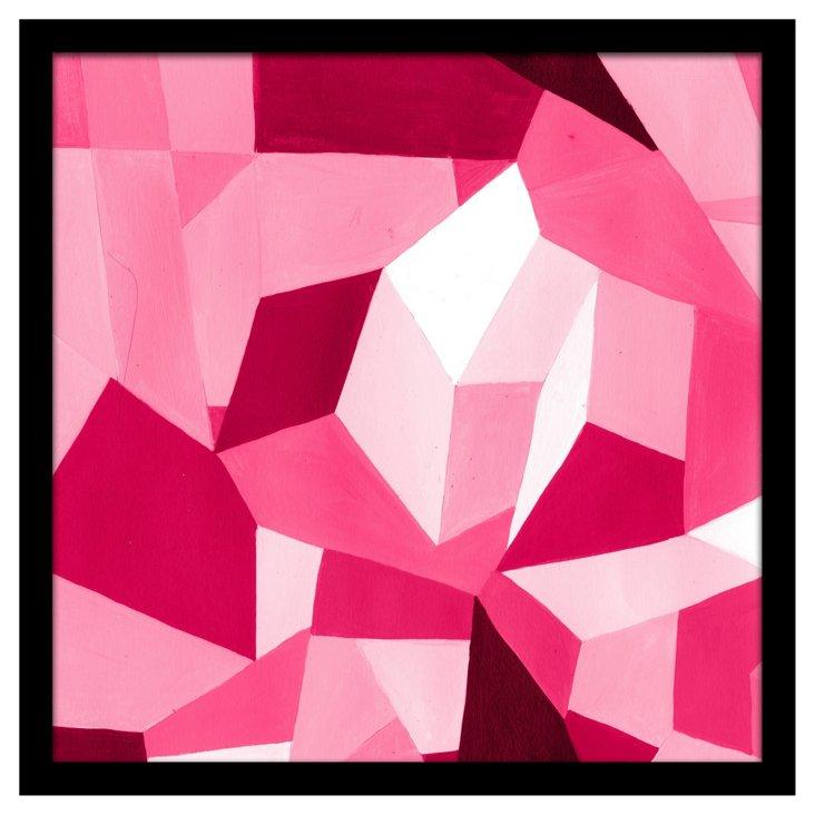 Geometric Kaleidoscope In Pink