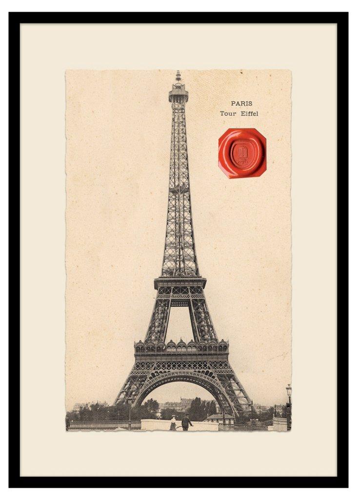 Paris Postcard with Wax Seal