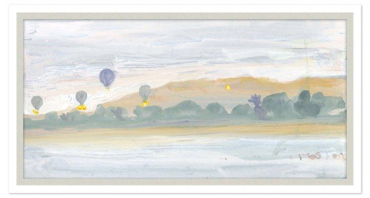 Hot Air Balloons Along Nile River
