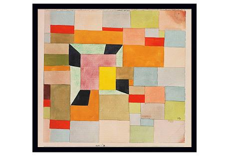 Klee, Aufgeteilte Farbvierecke, 1921
