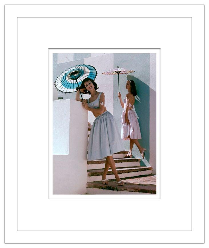 Glamour Magazine, Umbrella Model 1960