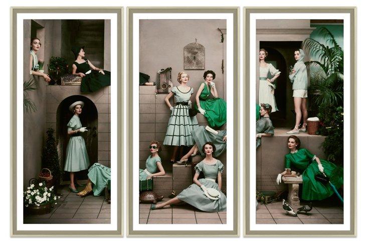 Glamour, 11 Women in Spring Triptych
