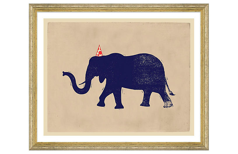 Party Animals - Elephant - Soicher Marin Art