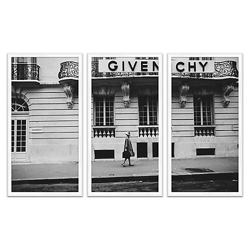 Glamour Givenchy in Grayscale, Triptych