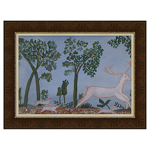 Deer In The Forest, Blue