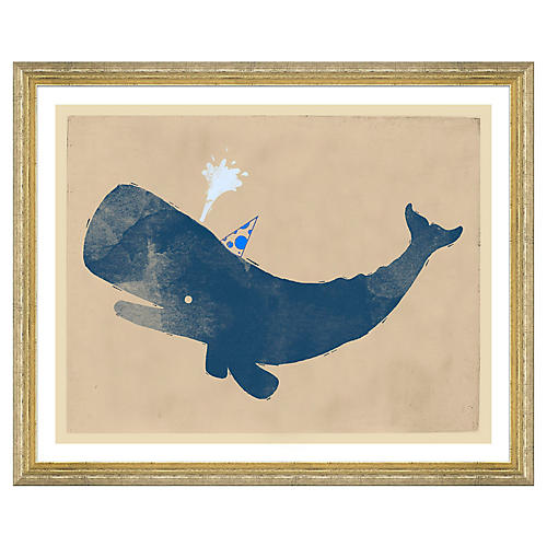 Party Whale in Beige/Blue