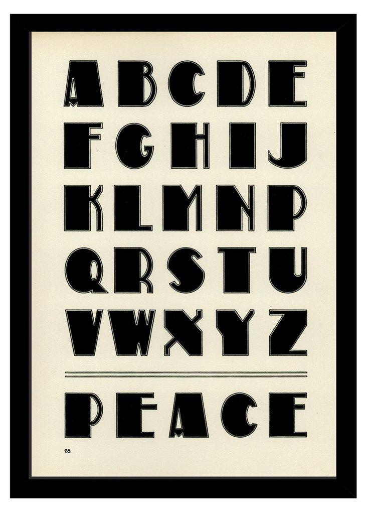 Peace Alphabet