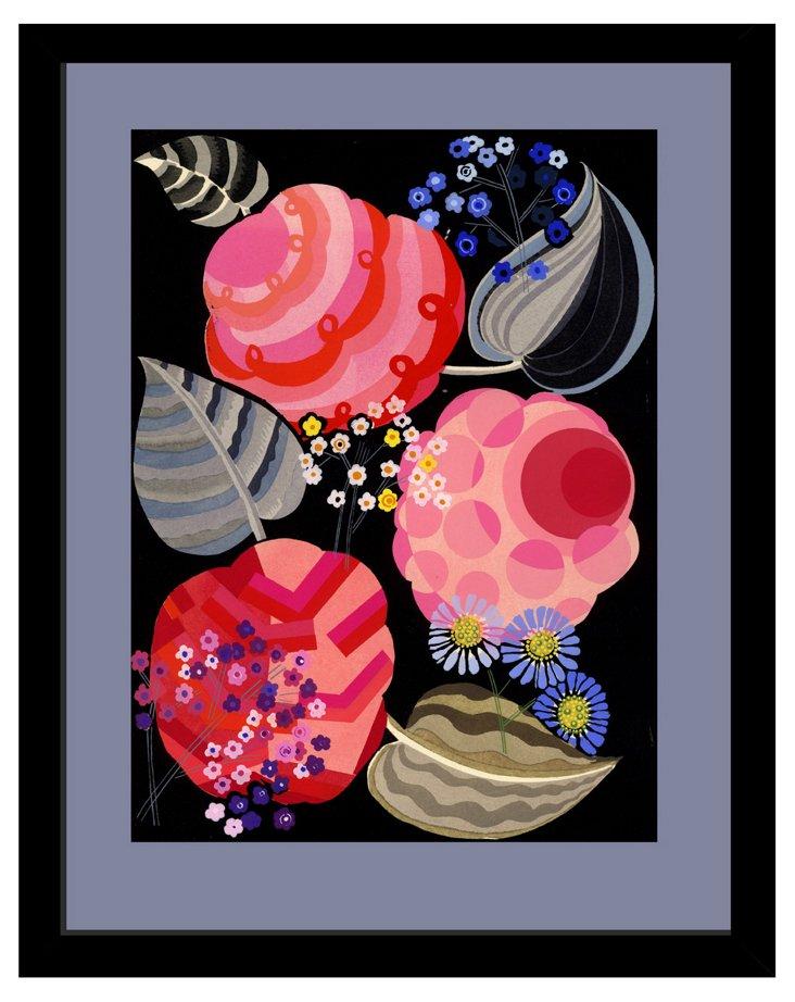 Pink Flower Pochoir