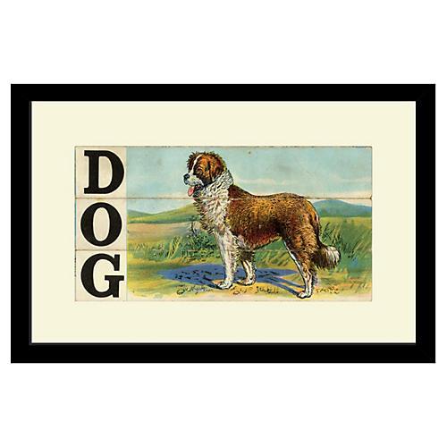 Victorian Slat Puzzle, Dog