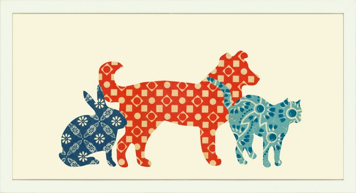 Dog, Cat, Rabbit