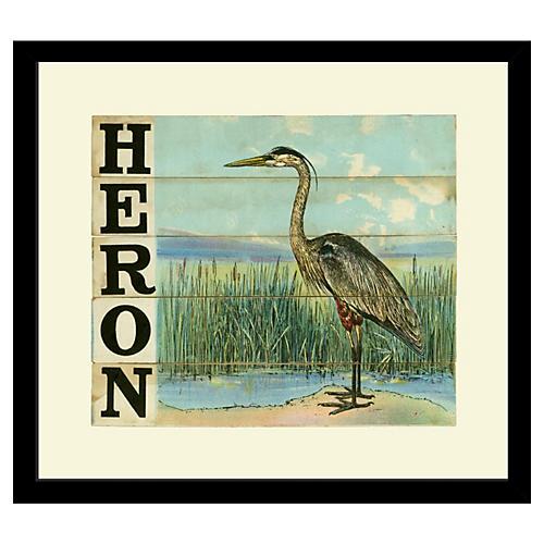 Victorian Slat Puzzle, Heron