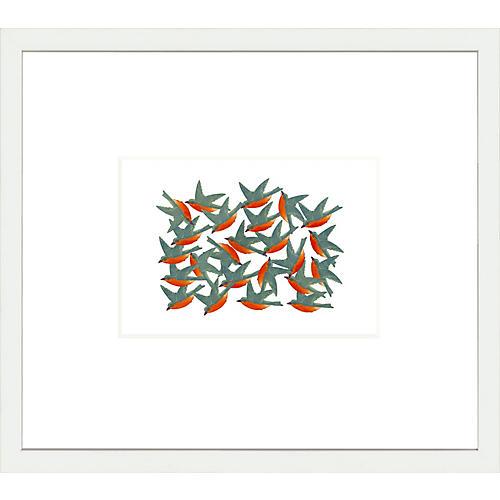 Kim Smith, Orange/Blue Bird Stickers
