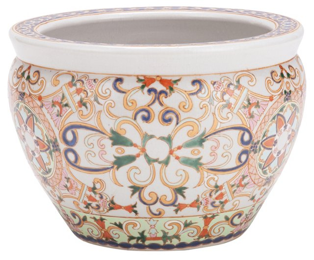 "8"" Porcelain Peach Royal Bowl"