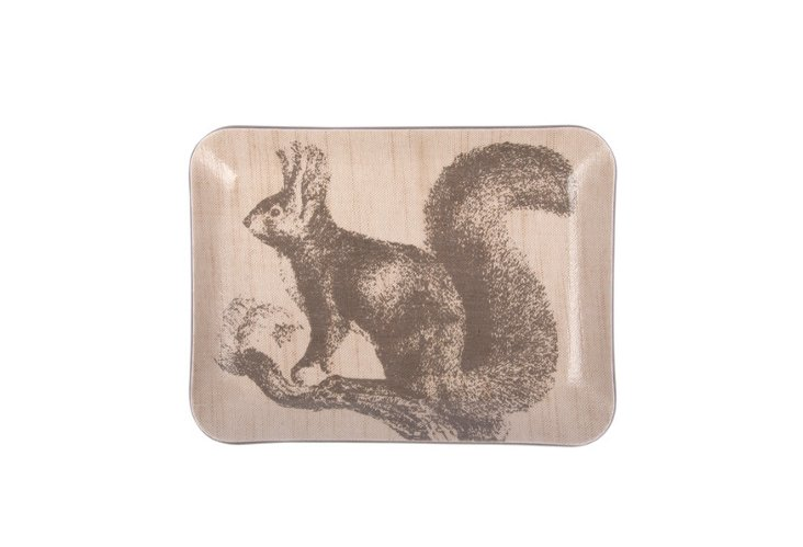 Squirrel Change Tray, Gray