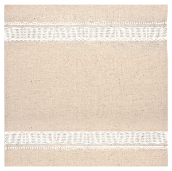 S/4 Printed Lace Napkins, White
