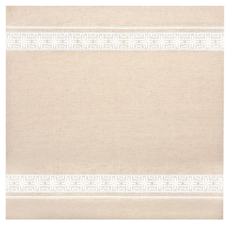 S/4 Lace Trim Napkins, White