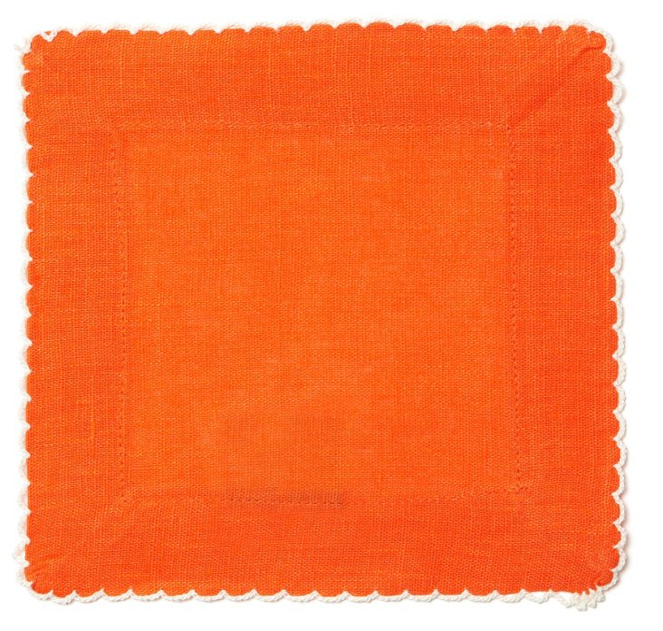 S/4 Cocktail Napkins, Orange