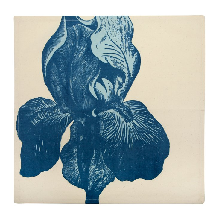 S/4 Iris Napkins, Blue
