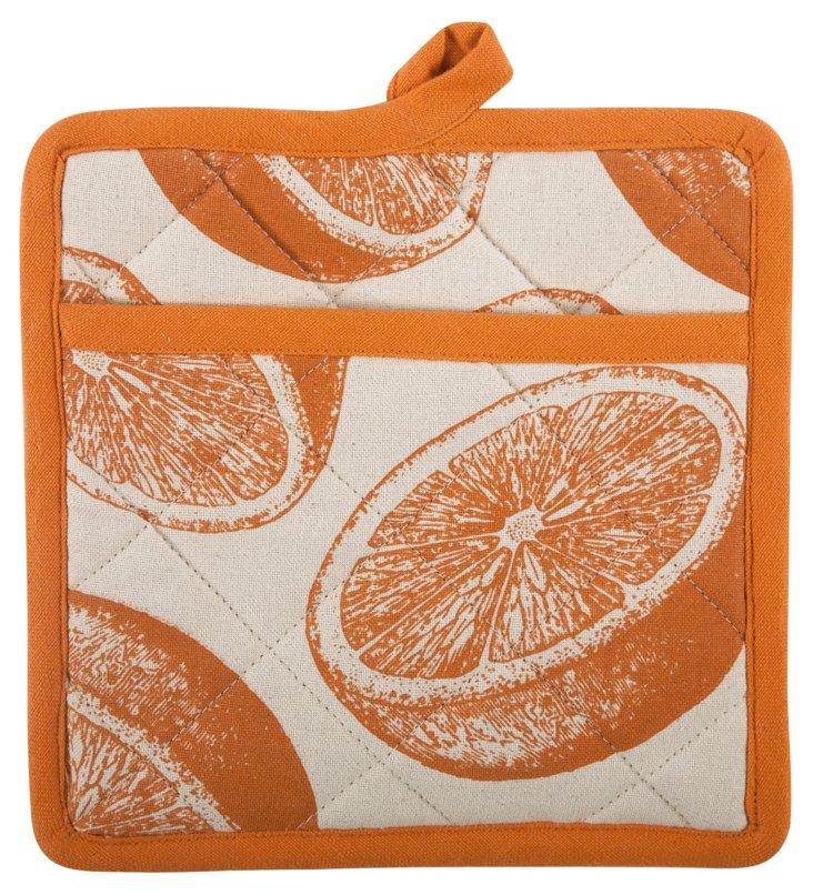 Orange Pot Holder, Orange