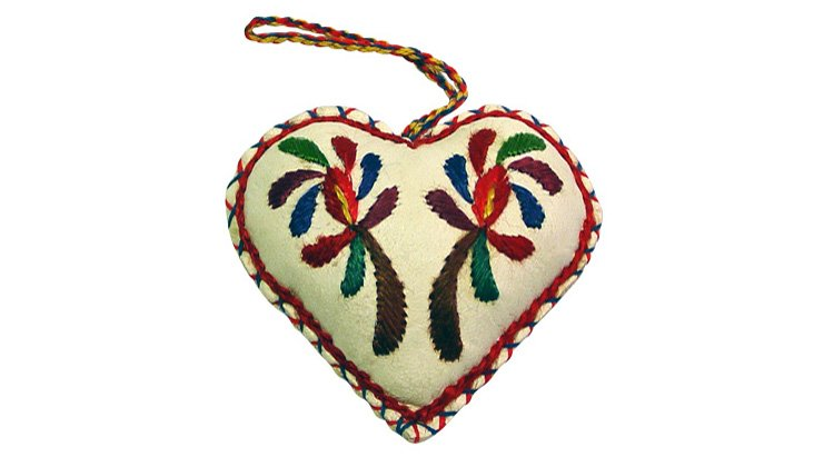 Leather Heart Ornament