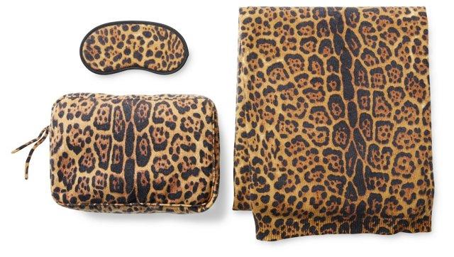Cashmere Travel Set, Cheetah