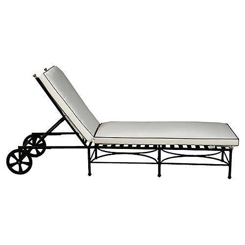Frances Chaise, White/Black