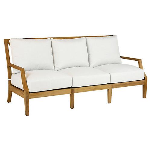 Aviva Teak Sofa, White