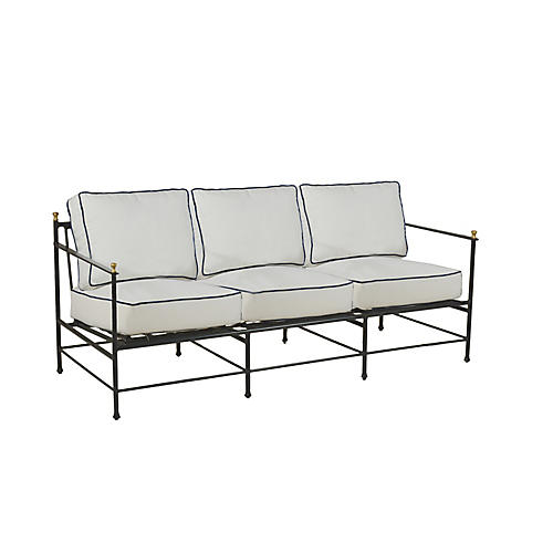 Frances Sofa, White/Black