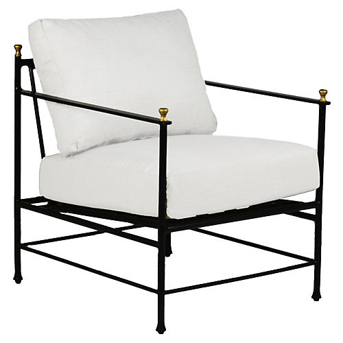 Frances Lounge Chair, White
