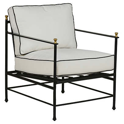 Frances Lounge Chair, White/Black