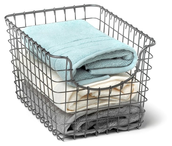 S/2 Small Scoop Baskets, Cool Gray