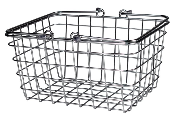 S/2 Chrome Wire Baskets, Small