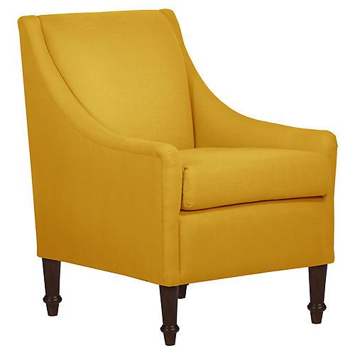 Holmes Accent Chair, Saffron Linen