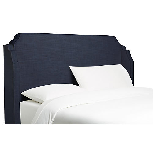 Aurora Wingback Headboard, Navy
