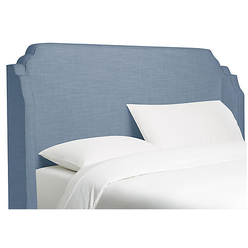 Aurora Wingback Headboard, French Blue