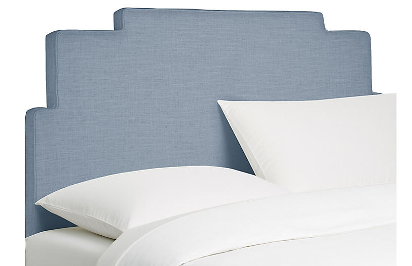 Paxton Headboard, French Blue Linen
