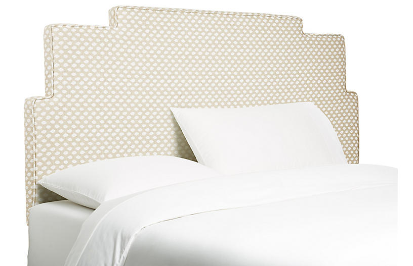 Paxton Headboard, Wheat Dots