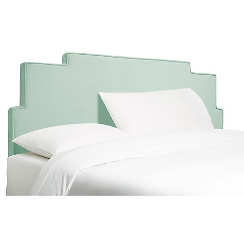 Paxton Headboard, Light Blue Velvet